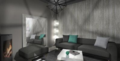 Un salon moderne et chaleureux